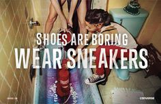 Print ad: Converse: Bathtub