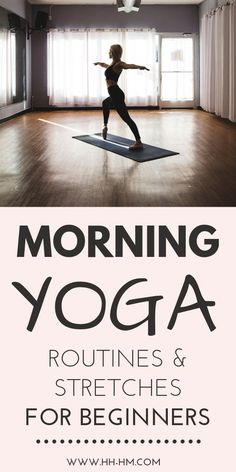Morning yoga routines and morning yoga stretches to start your day right, even for beginners! Wake up and do yoga at home or outside! Start your morning routine with these morning yoga poses for Mat Yoga, Yoga Bewegungen, Yoga Flow, Namaste Yoga, Morning Yoga Stretches, Morning Yoga Routine, Yoga Routines, Morning Yoga Sequences, Yoga Beginners
