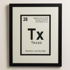 "Combining design elements from subway signs and the opening titles of a drama series about a chemistry teacher gone ""bad,"" our framed print pays homage to the hit television series and celebrates the state of Texas."