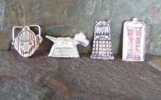 Fine silver TARDIS or Dalek (BBC copyright) made using official BBC mould by DawnGillDesigns on Etsy Something Scary, Take Me Up, Bespoke Jewellery, Dalek, Dr Who, Tardis, Bbc, My Etsy Shop, Delicate