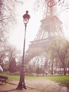 Morning Mist in Eiffel Tower, Paris, France