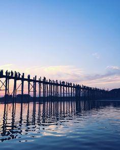 Travel Myanmar: UBein Teak Bridge Sunsetin Amarapura (near Mandalay) | Modern Mix Travel