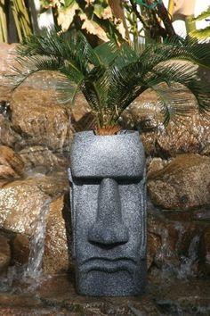 AmazonSmile: Easter Island Ahu Akivi Moai Monolith Tiki Head Garden Statue  Planter: Patio,