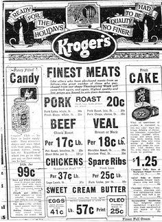 Kroger ad 1920's