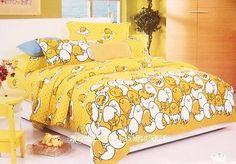 HOT-2016-Sanrio-Gudetama-Egg-Queen-King-Bedding-Set-4pc-Cotton-Bed-Set-RARE