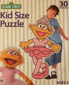 Sesame Street Kid Size puzzles. This jigsaw puzzle features Zoe the ballerina.