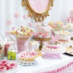 Mesa dulce para el bautizo de Nadia