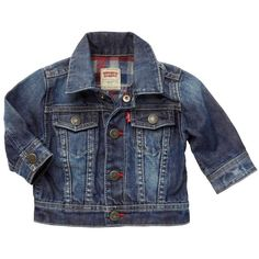Levi's Baby Boys Blue Denim Jacket ($70) ❤ liked on Polyvore featuring baby