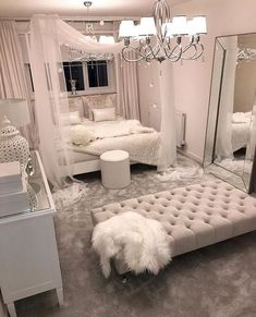 These bedroom ideas will look great and provide you with the relaxing haven that you need. Read more to discover bedroom decorating ideas that are sure to inspire you… inspo Cozy Home Decorating Ideas for Girls' Bedrooms Girl Bedroom Designs, Room Ideas Bedroom, Home Decor Bedroom, Living Room Decor, Bedroom Inspo, Dream Bedroom, Silver Bedroom Decor, Design Bedroom, Bedroom Interiors