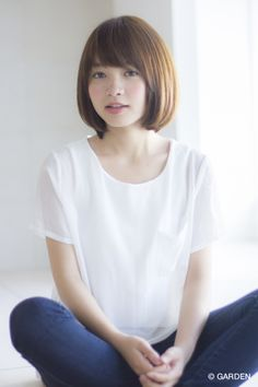 GARDENが提案する最新ヘアカタログ Asian Short Hair, Short Hair Cuts, Short Hair Styles, Short Bob Hairstyles, Pretty Hairstyles, Cute Haircuts, Love Hair, Hair Goals, Pretty Face