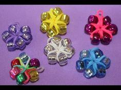 ▶ Cómo hacer una flor con gomitas y cuentas para pulseras - YouTube