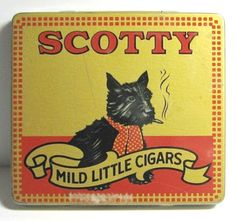 This neat little (empty) vintage cigar tin measures about 3 x x deep. The tin still has the Canada Tax Stamp on it. A great piece of collectible vintage tobacco memorabillia. Vintage Dog, Vintage Tins, Vintage Labels, Vintage Images, Vintage Style, Cigar Art, Vintage Packaging, Tin Containers, Dog Signs