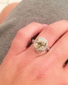5 Carat Fancy Yellow Diamond Engagement Ring | Christopher William Jewelers