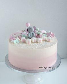 ristiäiskakku tyttövauvalle Birthday Ideas, Birthday Cake, Decoration, Baking, Desserts, Projects, Food, Christening, Pies