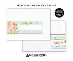 ENVELOPE WRAP LABELS Envelope Wrap Address Label Sticker Wrap Around Envelope…