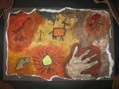 The Paper Pear: 4th Grade Cave Paintings