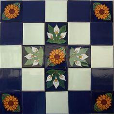 Ceramic MEXICAN Talavera Hand Made Tile