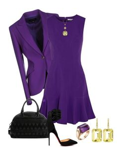 Something Purple by debbie2013 on Polyvore featuring Diane Von Furstenberg, ESCADA, Christian Louboutin, Joan Hornig and Roberto Coin