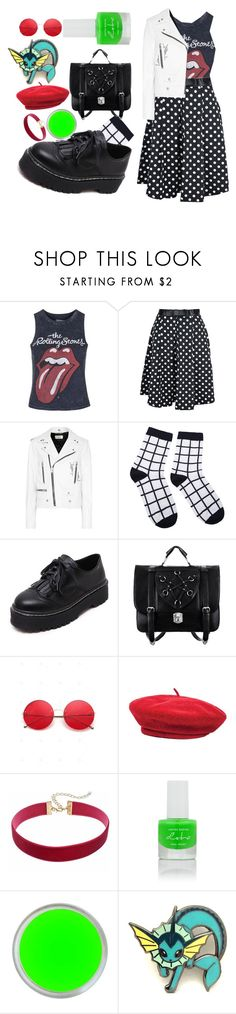 """""""Untitled #241"""" by a-huge-disappointment ❤ liked on Polyvore featuring Topshop, Yves Saint Laurent, WithChic, Brixton and Forever 21"""