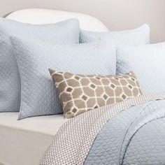 Bedroom inspiration and bedding decor | The Cloud Light Blue Quilt & Sham Duvet Cover | Crane and Canopy