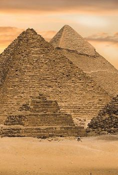 ♔ Pyramids at Giza near Cairo ~ Egypt