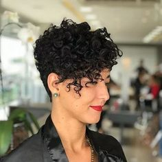 Short Curly Pixie Haircuts curly hair styles 45 New Best Short Curly Hairstyles 2018 - 2019 Short Curly Pixie, Curly Pixie Hairstyles, Curly Hair Styles, Short Curls, Curly Hair With Bangs, Haircuts For Curly Hair, Curly Hair Cuts, Long Curly Hair, Short Hair Cuts