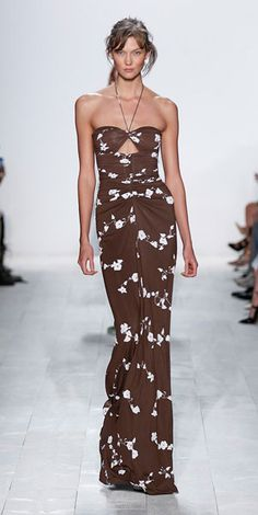 One look we loved from the spring 2014 Michael Kors show at #NYFW: This flattering floral dress. http://www.womenshealthmag.com/style/nyfw-7?cm_mmc=Pinterest-_-WomensHealth-_-content-style-_-nyfwday7