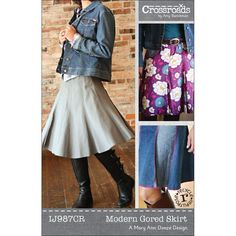 Modern Gored Skirt Pattern