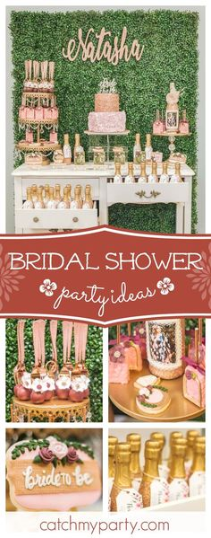 Take a look at this gorgeous gold and blush Bridal Shower! The sugar coated cookies are so beautiful! See more party ideas and share yours at CatchMyParty.com #bridalshower #floralparty