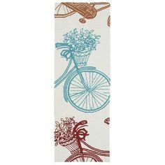 Kaleen Rugs Indoor/Outdoor Beachcomber Bicycle Multi Rug