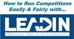 How To: Run Competitions Easily & Fairly With Leadin. Today Kirsty has some news about Leadin - a brand new contest software programme which enables companies to run competitions easily & fairly. If you own a blog or a small business and like to run regular competitions via your blog, website or Facebook page, Leadin could be a great package for you to use to create and manage them!