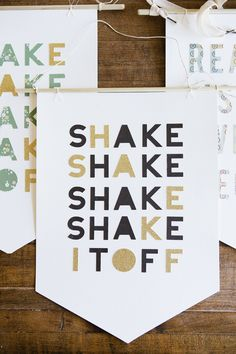 Silhouette Quote Banners | Shake it Off from Handmade Mood blog