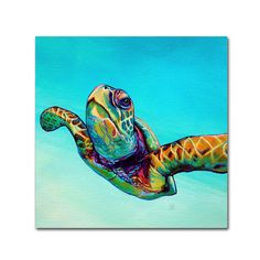 Trademark Fine Art Framed H x W Animals Print on Canvas at Lowe's. This ready to hang, gallery-wrapped art piece features a colorful image of a sea turtle. Giclee (jee-clay) is an advanced printmaking process for creating Sea Turtle Painting, Sea Turtle Art, Sea Turtles, Detail Art, Beach Art, Artist Canvas, Art Reproductions, Canvas Art Prints, Framed Art