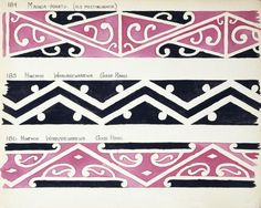 Godber, Albert Percy, :[Drawings of Maori rafter patterns]. The bottom two are from the Hinemihi wharenui at Whakarewarewa Maori Designs, Tattoo Designs, Tattoo Ideas, Island Tattoo, Maori Patterns, Pattern Meaning, Henna Body Art, Marquesan Tattoos, Maori Tattoos