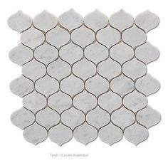 Bianco Carrara Marble Torch Mosaic Tile