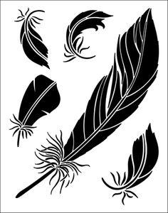 Feathers stencil from The Stencil Library BUDGET STENCILS range. Buy stencils online. Stencil code TP26.