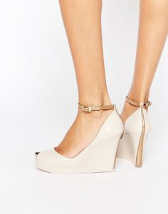 Image 1 of Melissa Patchuli Peep Toe Wedge Shoes