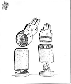 No hands, no brain.    Muji 0,38 Black - Hugo CHAFFIOTTE    http://disconnectedbrain.tumblr.com