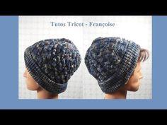 Tuto Tricot Bonnet point torsade   Comment tricoter un bonnet étape par étape   Bonnet homme - YouTube