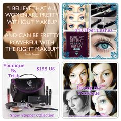 Every women is beautiful but the right makeup can make you pretty powerful. Younique makes me feel that way everyday  Be YOU Nique and Be YOU Tiful everyday.  www.youniqueproducts.com/patriciaAblack/PatriciaAblack