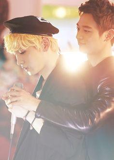 Image via We Heart It #cutie #key #kibum #love #Minho #otp #SHINee #minkey