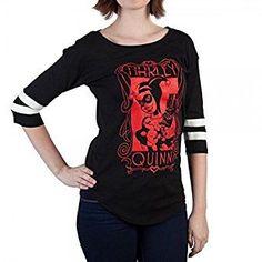 Amazon.com: DC Comics Harley Quinn Yoke Raglan Juniors T-shirt: Clothing