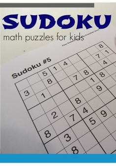 sudoku for kids and families | critical thinking & #math skill-builder #weteach