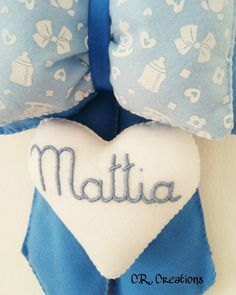 fiocco nascita in pannolenci per il piccolo Mattia  #fiocconascita #birthribbon #birth #nascita #crcreations #felt #handmadeinitaly #madeinpadova