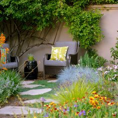 Everything you need to give the hose a rest, from unthirsty plant picks to inspiring gardens