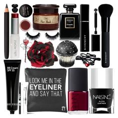 """""""Jungle Red"""" by grozdana-v ❤ liked on Polyvore featuring beauty, W3LL People, Nails Inc., Alessandra Rich, Giorgio Armani, NARS Cosmetics, Givenchy, INIKA, Chanel and Bobbi Brown Cosmetics"""