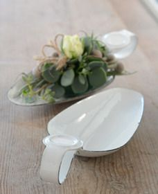 Emaille Löffel weiss from Art Chateau - Living, Design & more