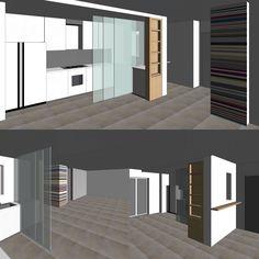 Idee per nascondere la cucina nella zona living