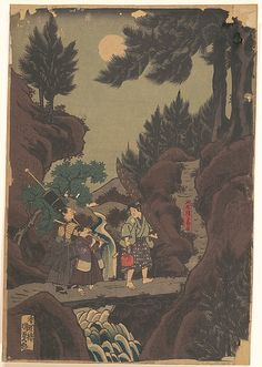 Utagawa Kunisada (Japanese, 1786–1865). Shanaō [Yoshitsune] Learns Martial Arts in Sōjōgatani (Shanaō Sōjōgatani ni heijutsu o manabu zu), 1830s (Tenpô era). The Metropolitan Museum of Art, New York. The Metropolitan Museum of Art (JP1093.11)