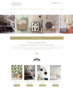 Responsive WordPress Webshop voor Cocoon Concept Store Akkrum Wordpress, Concept, Store, Shopping, Storage, Business, Shop